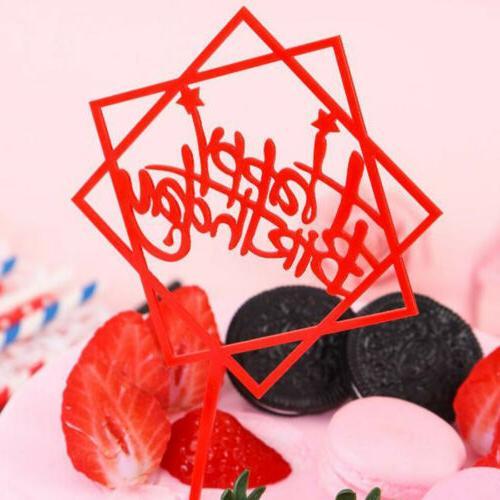 Acrylic Happy Decor Baking Cake Card
