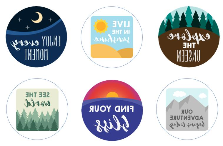 Adventure Awaits Inspirational Quotes Edible Cupcake Toppers