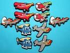 Aeroplane Shoe Decorations 10 Cupcake Toppers Party Favours