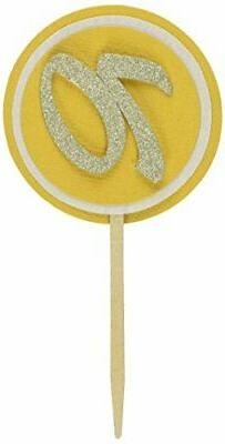 All About Details Gold 70 Cupcake Toppers, Set of 12