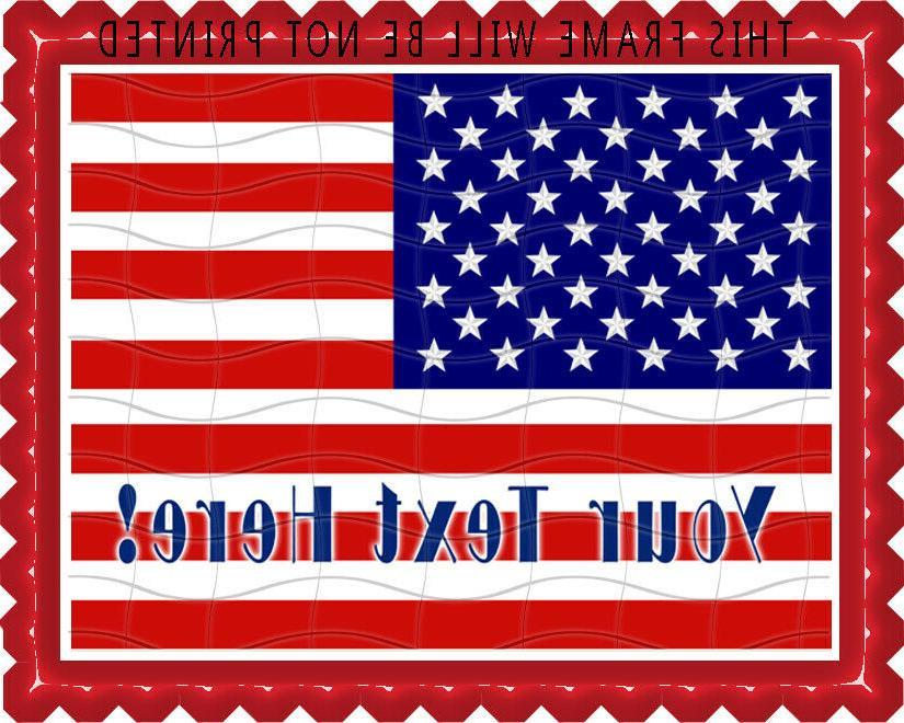 American Flag  - Edible Cake Topper & Cupcake Topper