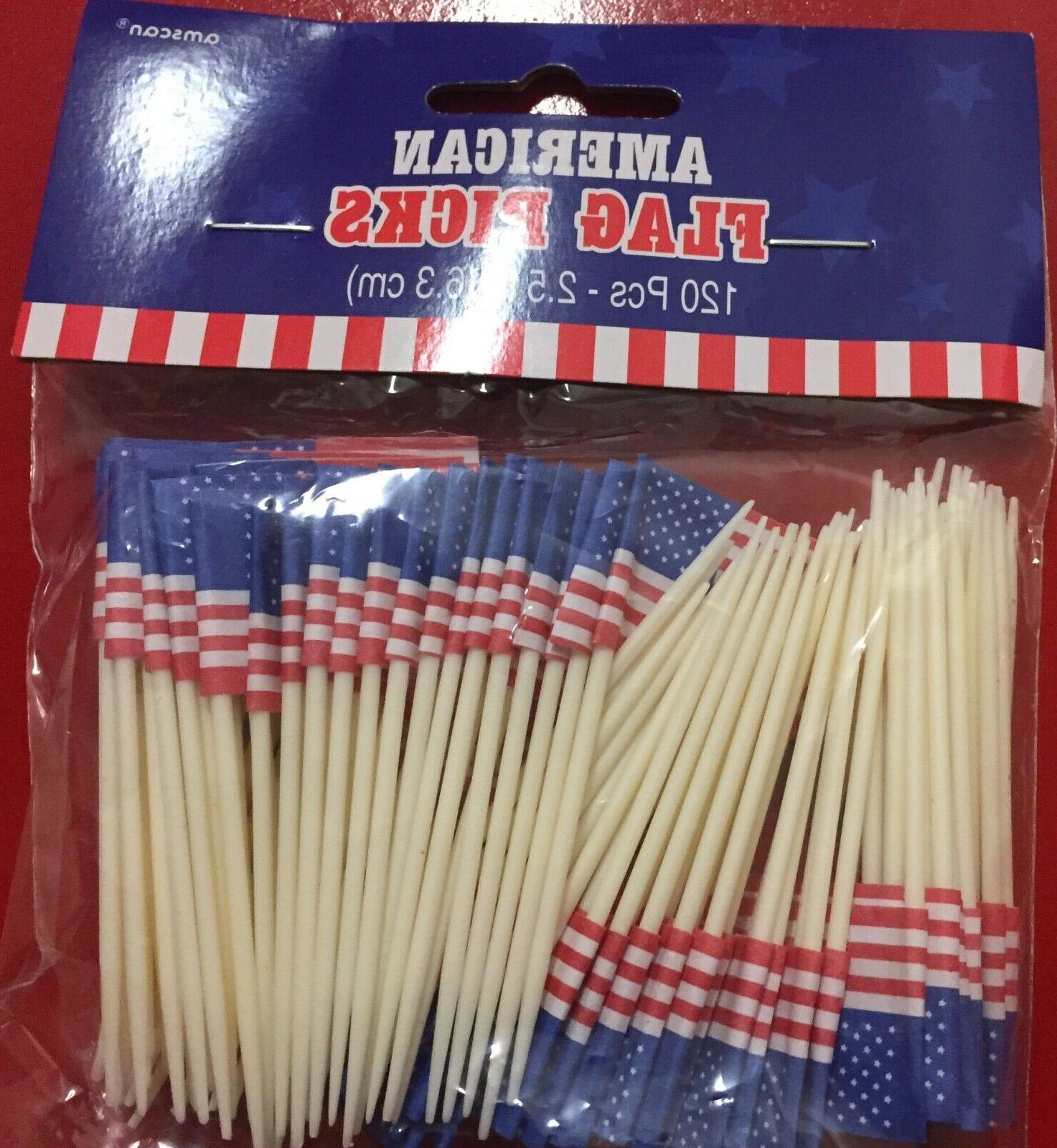 american flag cupcake pick toppers 4th of