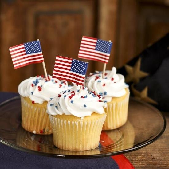 american flag cupcake picks toppers 100 count