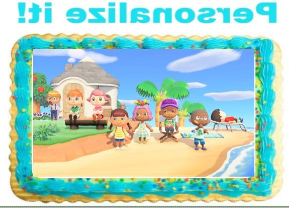 animal crossing personalized edible cake cupcake image