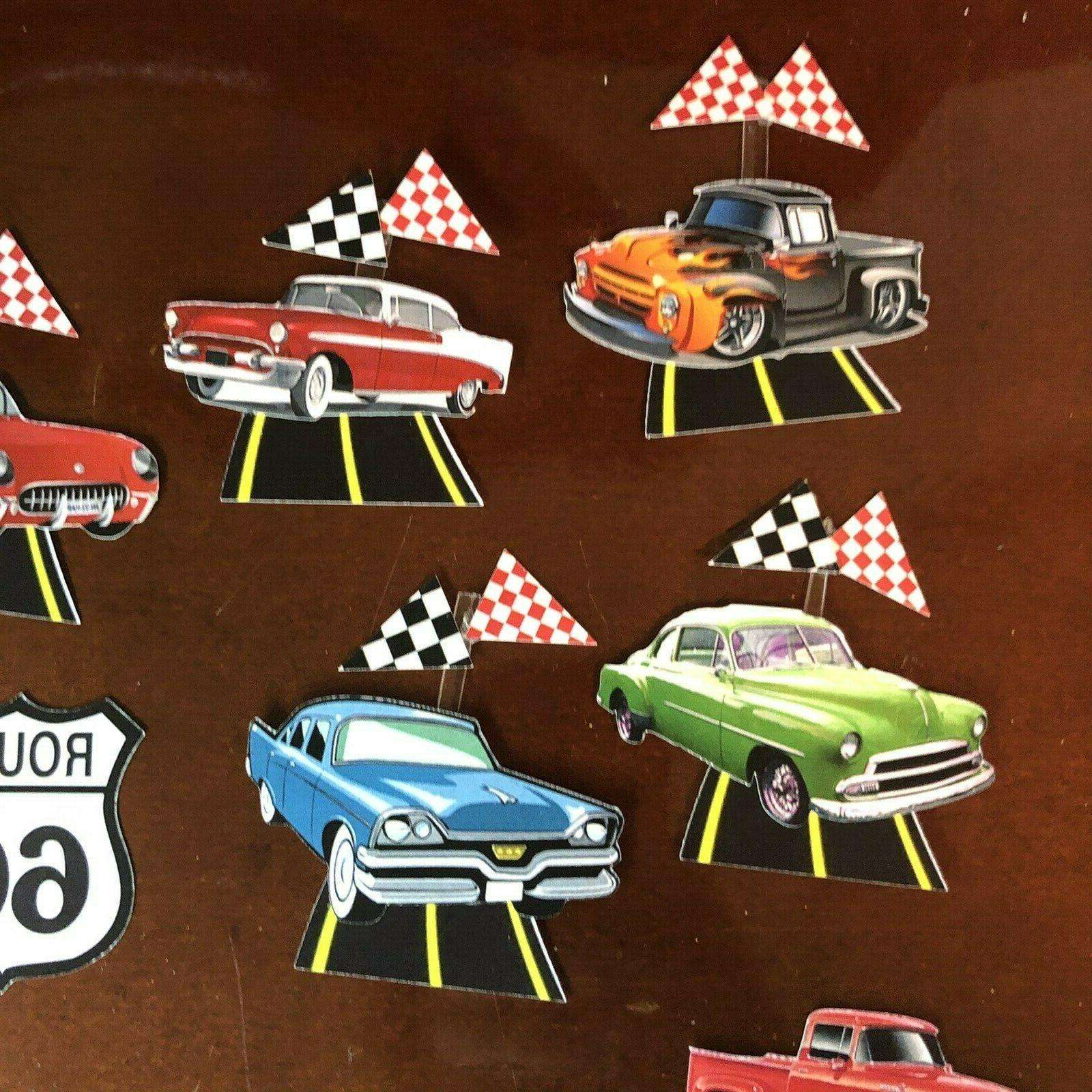 antique cars set of 14 pcs cupcake