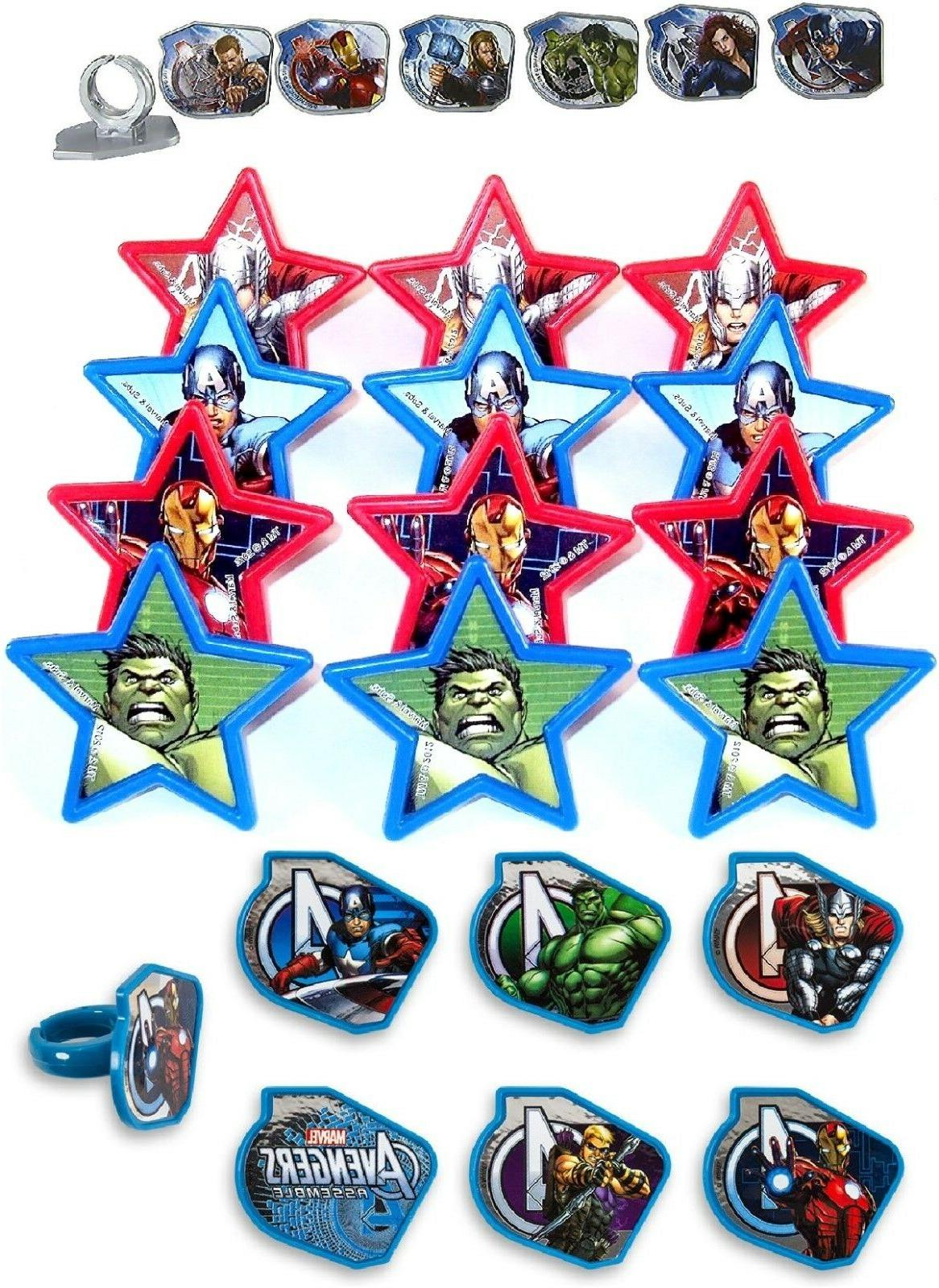 Marvel Avengers Assorted Cupcake Rings 24pc Party Favors Cak