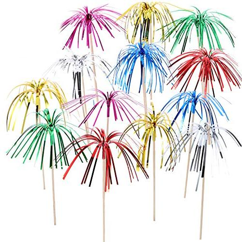 assorted foil frill firework coconut