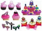 Glitzy Girl Purse Heels Assortment Cupcake Picks Cake Topper