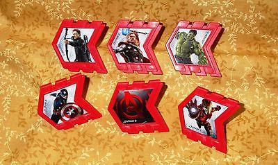 avengers cupcake party rings toppers multi color