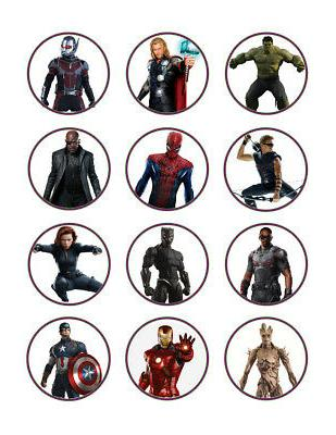 Avengers edible party cupcake toppers decoration frosting to