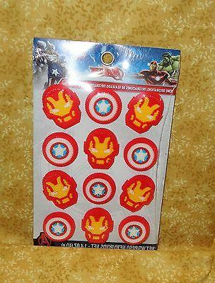 Avengers Sugar Cupcake Toppers,CakeDecorations,Wilton,710-4110,Multi-Color,