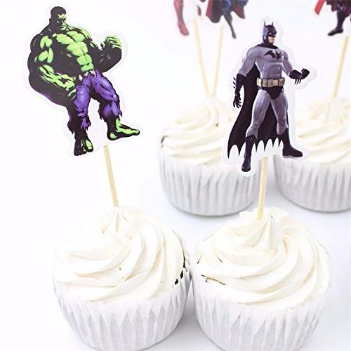 Avengers and Superheros Cupcake Topper Party Decoration Party