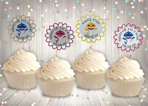 baby cupcake toppers set of 12