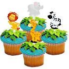 BABY ZOO ANIMAL CUPCAKE PICS CAKE TOPPERS LION,ELEPHANT,ZEBR
