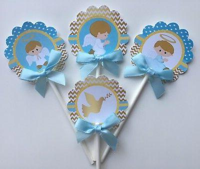 Baptism cupcake toppers, 1