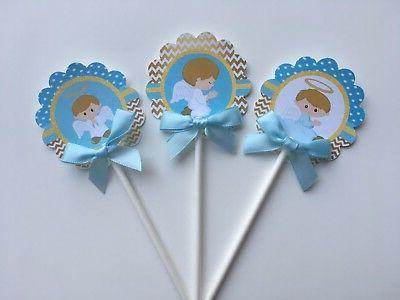 Baptism toppers, Baptism theme, Blue
