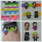 Batman vs Superman Party Favor Cupcake Topper Charms and Sil