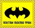 Batman Yellow Logo - Edible Cake Topper OR Cupcake Topper, D