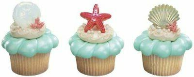 Beach Cake Seashell Cupcake Rings 14168-14177