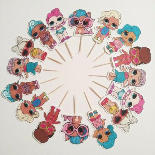 beach party lol surprise cupcake toppers 24pc