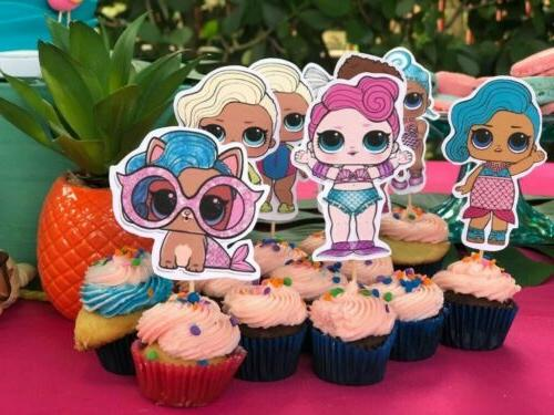 🌴 Beach 🎉 Lol Toppers 24pc Dolls Swim Birthday