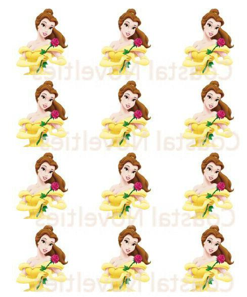 beauty and the beast cupcake toppers edible