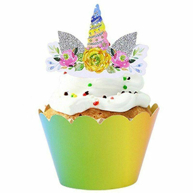 Birthday Party Decorations Cupcake Wrappers 24Pcs