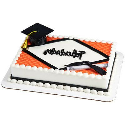Black Graduation Cap Cake Topper Candy Cookie