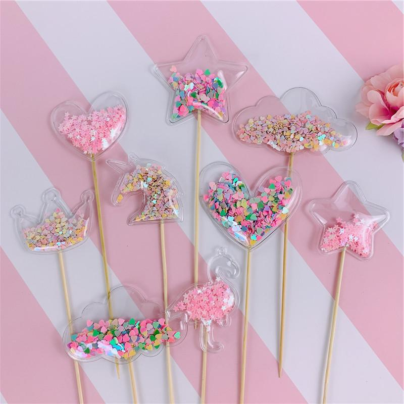 Bling Fairy PVC <font><b>Topper</b></font> <font><b>Unicorn</b></font> Cloud Flamingo <font><b>Cupcake</b></font> <font><b>Topper</b></font> Wedding Party Cake
