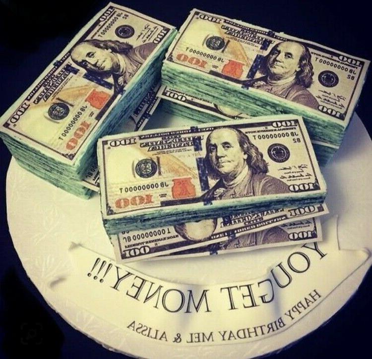 blue face 100 dollar bills edible money