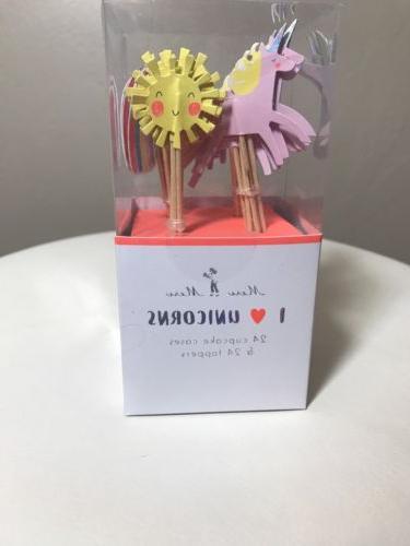 bnib i love unicorns cupcake cases