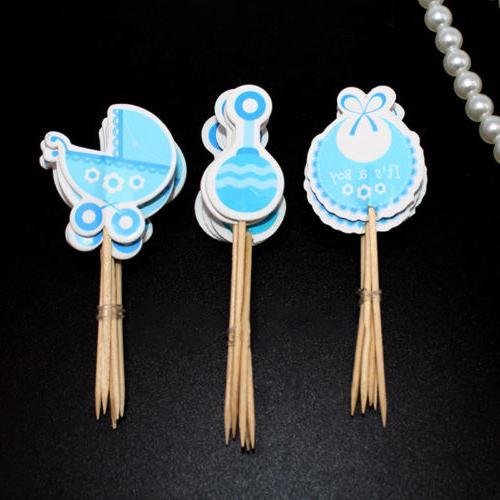 Boy/Girl Type Baby Shower Cute Cake Decorations Kids Birthda