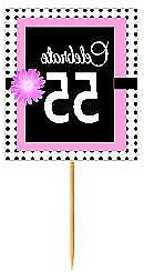 Bpp 055 Happy 55th Birthday Pink Black