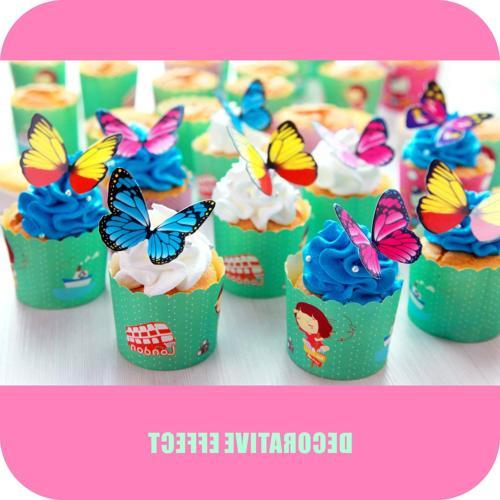 Butterfly cake Set, GUCUJI Chocolate Mousse Cake Cupcake 4