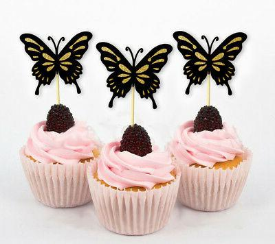 butterfly cupcake toppers birthday wedding party pack
