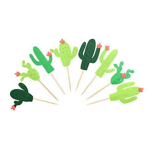 cactus cupcake toppers fiesta west