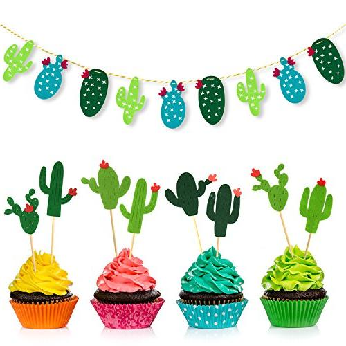 cactus cupcake toppers picks