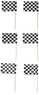 Oasis Supply 36 Count Cake/Cupcake Topper, Black and White R