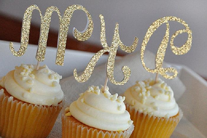 cake glitter letter capital for <font><b>Cupcake</b></font> Cup decoration baby shower