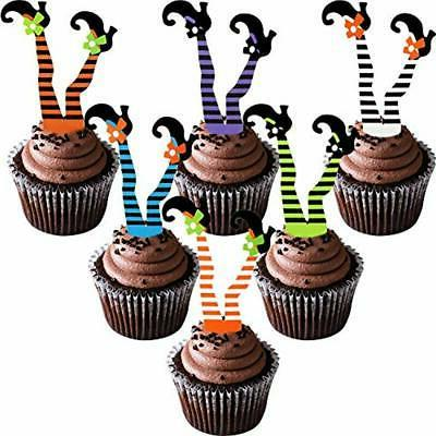 cake toppers 48 pieces halloween cupcake happy