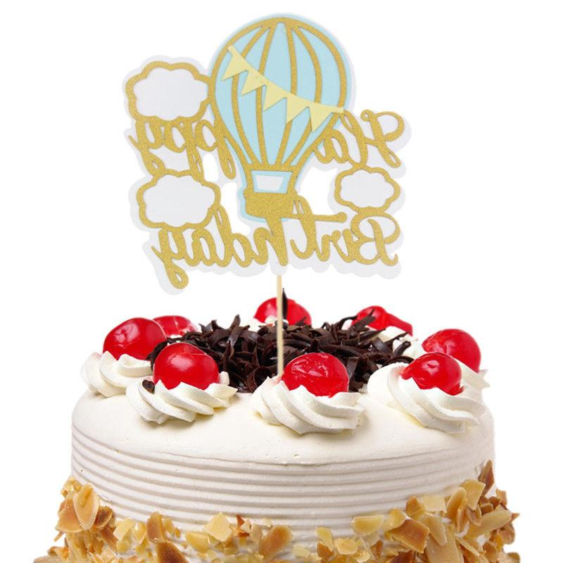 cake toppers hot air balloon cloud cupcake