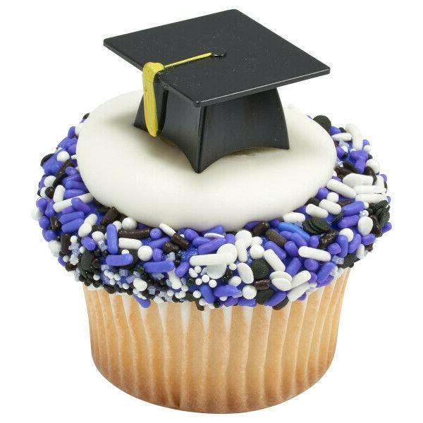 cake toppers new graduation hat cupcake picks