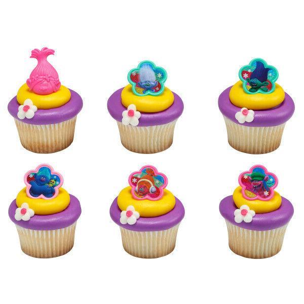 cake toppers new trolls cupcake rings poppy