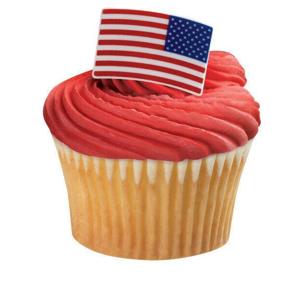 cake toppers patriotic american flag cupcake rings