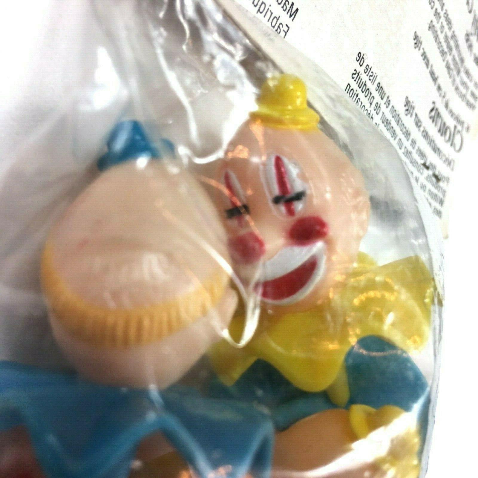 Wilton Cake Tops Derby Clowns Plastic Picks Vintage
