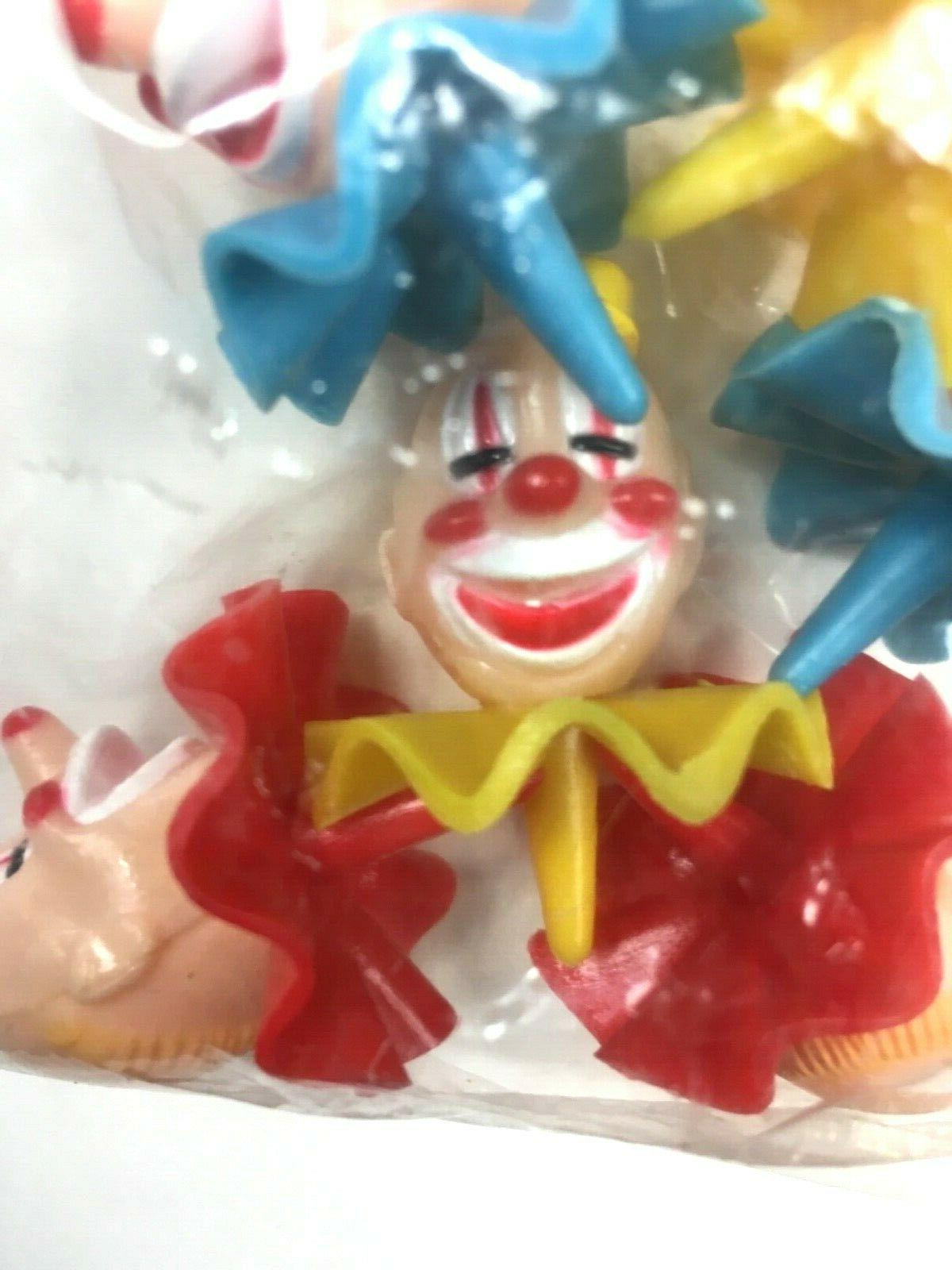 Wilton Cake Clowns Plastic Picks Set 6 Vintage