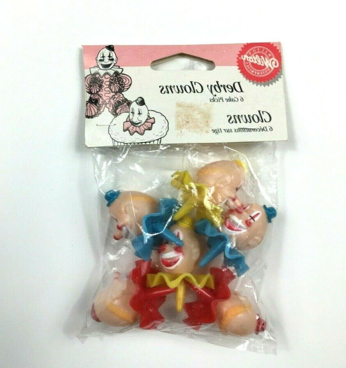 cake tops derby clowns plastic cupcake toppers