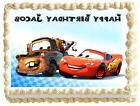 CARS LIGHTNING MCQUEEN & MATER  Image Edible Cake topper des