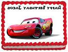 CARS LIGHTNING MCQUEEN Image Edible Cake topper decoration