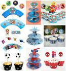 Cartoon 3-Tier Paper Cup Cake Stand Holder / 12Pcs Cup Cake